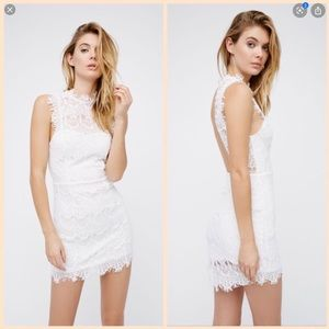 New $98 Free People daydream white lace dress XS